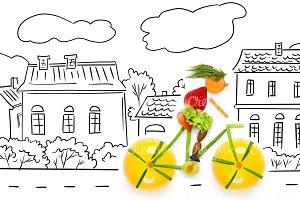 Fruity cyclist.