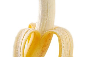 isolated pilled banana