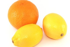Orange and 2 lemons