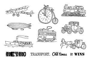 Old Transport Doodle set