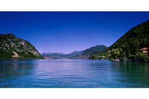 Lugano city and lake.