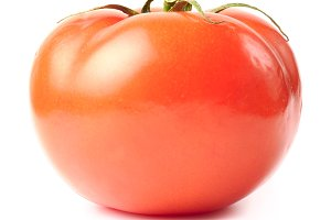 fresh tomato isolated on white