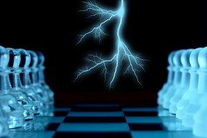 Lightning before chess battle