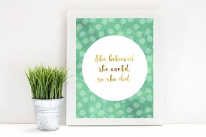 Inspirational Printable-She Believed