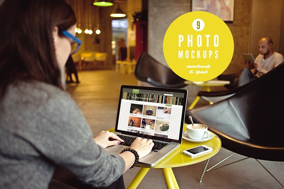 Download iPad & Macbook 9 photo mockups