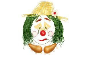 Sad fruity clown.