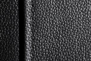black leather with seam
