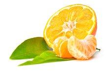 fresh mandarin isolated on white