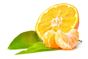 fresh mandarin isolated on white