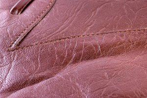 leather texture, shallow dof