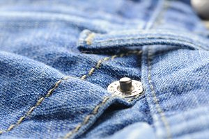 closeup of blue jeans, shallow dof
