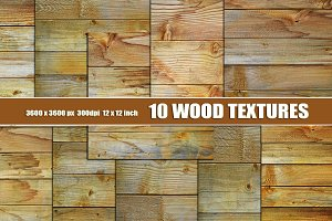 wood textures set of 10