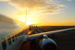 sunset aicraft