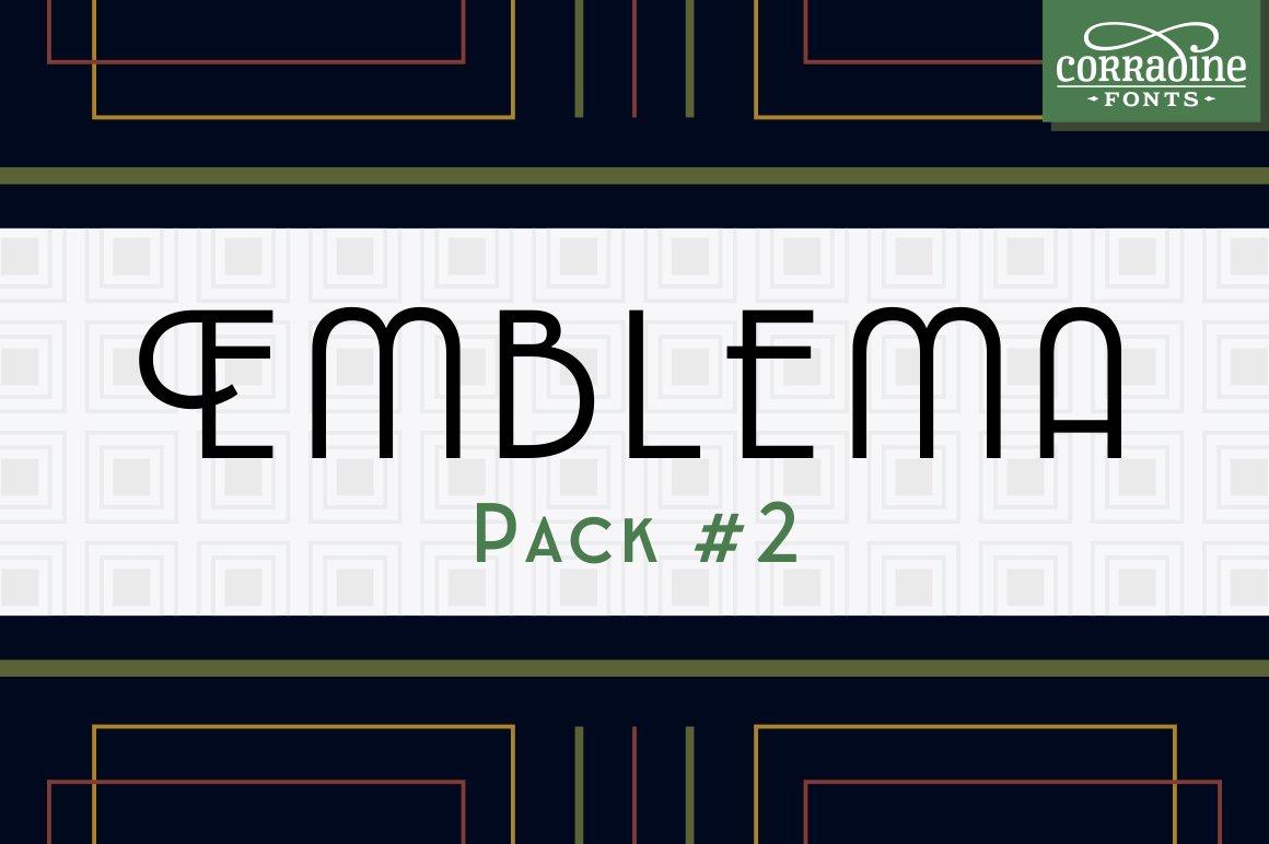 Download Emblema Font Pack #2 | Stunning Display Fonts ~ Creative ...