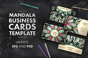 Mandala business card template 03