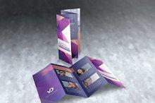 Legal Size 4 Panel Brochure Mockups