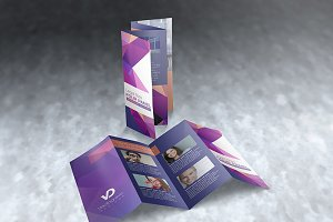 Legal Size 4 Panel Brochure Mockups