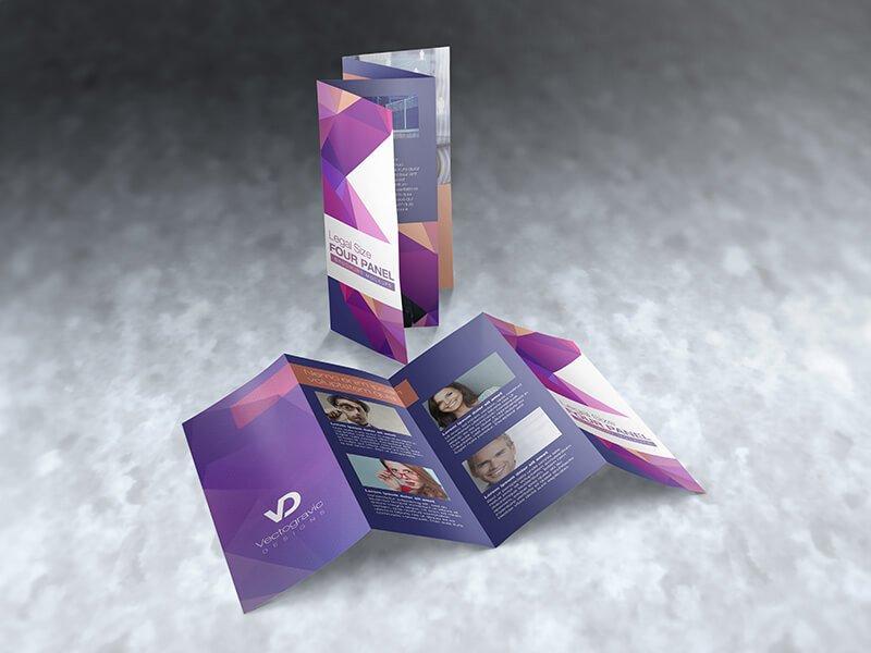 legal size 4 panel brochure mockups print mockups. Black Bedroom Furniture Sets. Home Design Ideas
