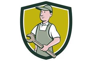 Repairman Holding Spanner Crest