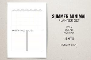 Planner Set - Summer Minimal