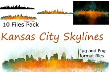 10x files pack Kansas City Skylines