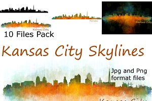 10x files pack Kansas City Skylines