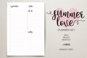 Planner Set - Summer Love