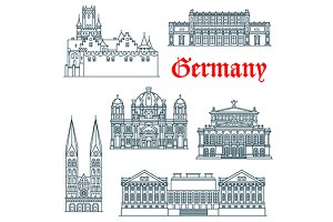 German travel landmarks