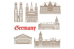 Famous german travel landmarks