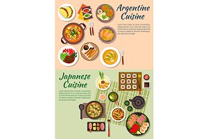 Japanese and argentine cuisine