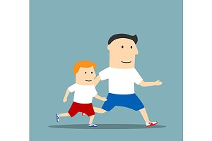 Healthy lifestyle or sport family