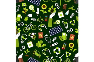Eco friendly seamless pattern