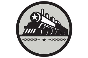Steam Train Locomotive Star