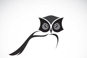 Vector image of an owl design.