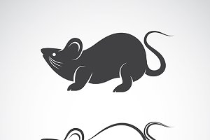 Vector image of a rat design.