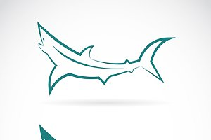 Vector images of sharks design.
