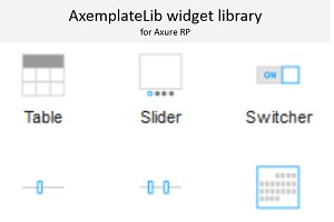 Axure widget library / AxemplateLib