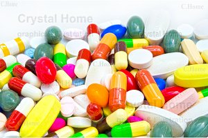 Colorful medicine and drugs set (2)