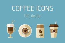 9 Coffee Flat Icons