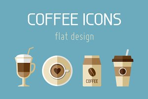 9 Coffee Flat Icons