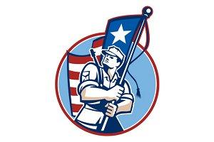 American Patriot Serviceman Soldier