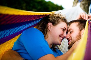 Engagement Couple in Hammock