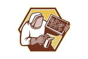 Beekeeper Apiarist Holding Bee