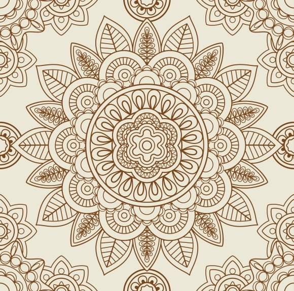 Indian Mehendi Boho Background Graphics Creative Market