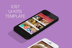 IOS7 UI Kits PSD Template