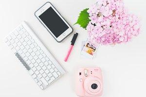 Flatlay Instagram Feminine Desk