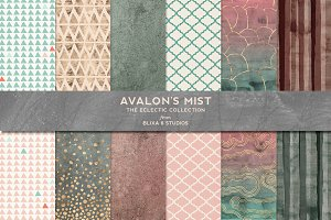 Avalon's Mist Rose Gold & Watercolor