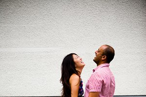 Engagment Couple Laughing
