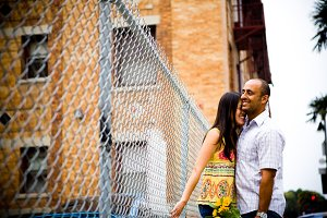 Engagment Couple by Urban Fence