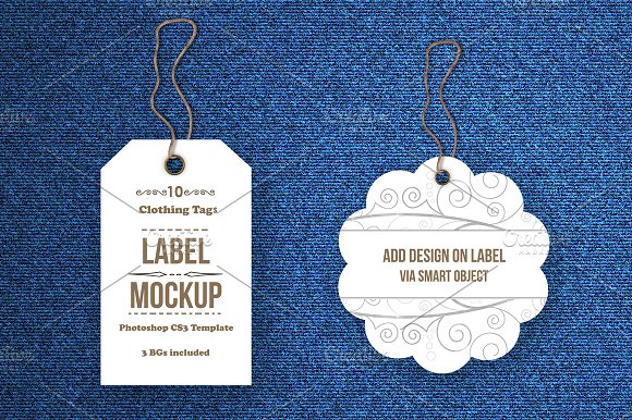 Free Tags / Labels Mockup Bundle